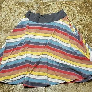 Stretchy, stripey circle skirt
